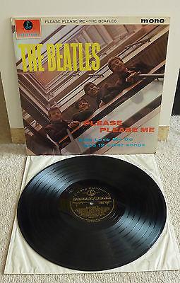 THE BEATLES   PLEASE PLEASE ME LP UK PARLOPHONE 1963 1ST BLACK   GOLD LABEL MONO