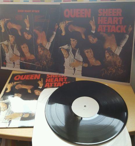 QUEEN SHEER HEART ATTACK EMC 3061 UK WHITE LABEL EMI TEST PRESS 1974 N MINT LP