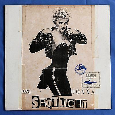 MADONNA Spotlight Ultra Rare 1988 Hong Kong 1 Sided DJ Only 12   Vinyl Record