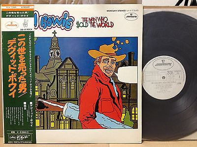 DAVID BOWIEMan Who Sold The World ULTRA RARE JAPAN ORIG MERCURY PROMO LP wOBI