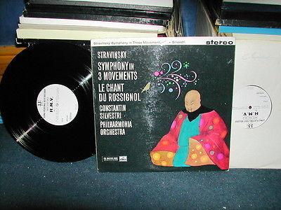 ASD 401 Stravinsky symphony in 3 Silvestri Stereo LP 2x1 sided test press RARE