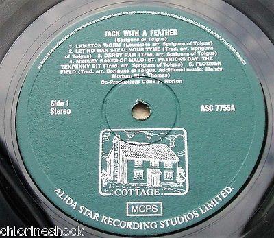 Spriguns Of Tolgus   Jack With A Feather   Original UK LP   Alida Star ASC 7755