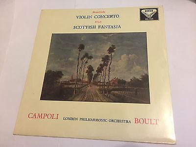 CAMPOLI MENDELSSOHN BRUCH   SCOTTISH FANTASIA  1958  Decca WBg ED1 LP SXL 2026