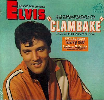 ELVIS PRESLEY NEW SEALED MONO PROMO Clambake ORIG  67 US RCA LP HYPE BLURB PHOTO