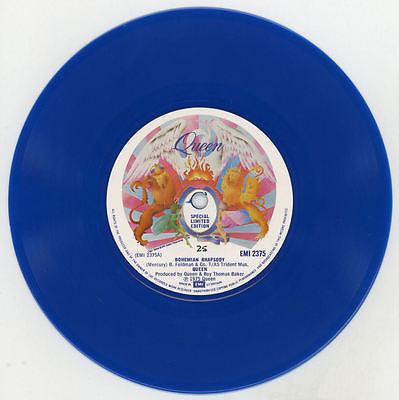 RARE Queen Bohemian Rhapsody 7        EMI Ltd Edition Blue Vinyl Number 25