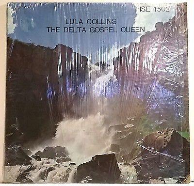 LULA COLLINS delta gospel queen LP on HSE in SHRINK rare gospel soul funk  VG