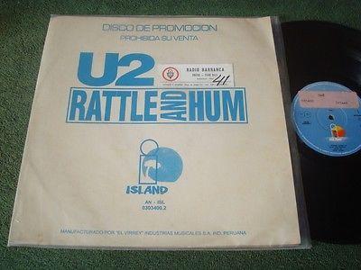 U2  RATTLE AND HUM  PROMO DIFF COVER PERU LP  3034002