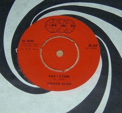 VERNON ALLEN   Far I come  babylon UK ORIGINAL 7  45 rpm TOP COPY    SKA REGGAE