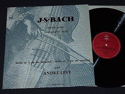 JS BACH suites cello solo 5 3 Andre LEVY lumen 3448 mint  lp