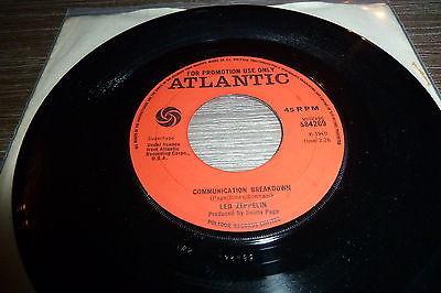 Led Zeppelin Communication breakdown 7  UK Promo 1969 Extremely Rare original