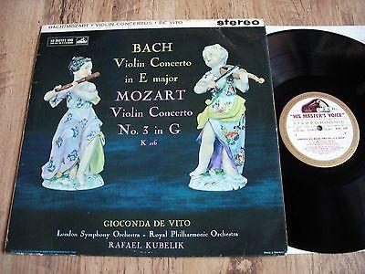 GIOCONDA DE VITO  BACH MOZART VIOLIN CONCERTO ORIG UK HMV ASD 429 STEREO LP 1961