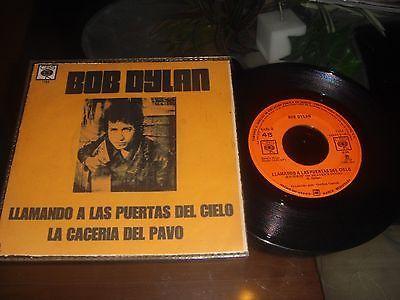 BOB DYLAN  Llamando A Las Puertas Del Cielo   1973 MEXICO 7  45  Unique PS Folk