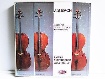 ESTHER NYFFENEGGER Suites for Cello Solo BACH   1st Press ARMIDA 3LP BOX