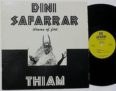 MOR THIAM Dini Safarrar Drums of Fire 1973 LP private Afro Funk Jazz  Rite 5213