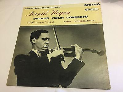 BRAHMS KONDRASHIN   VIOLIN CONCERTO  1958  Blue Silver Columbia ED1 LP SAX 2307
