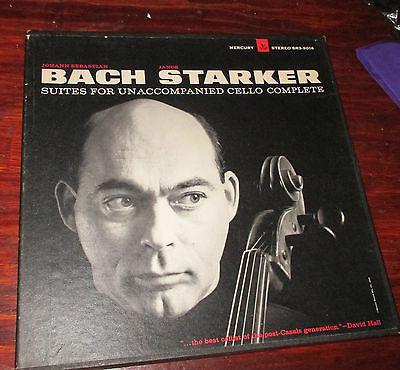 Mercury SR3 9016 Janos Starker Bach Solo Cello Suites 3 LP Original