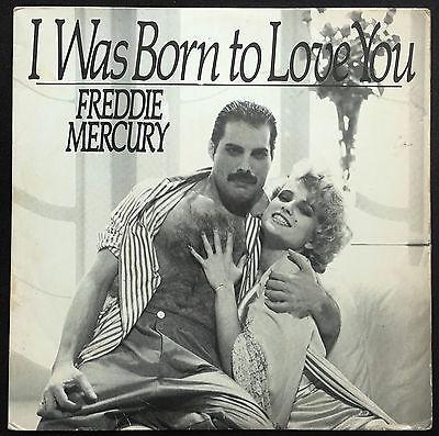 FREDDIE MERCURY    I Was Born to Love You  1985 BRAZIL 7  45 UNIQUE P S Queen