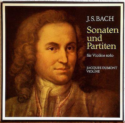 DUMONT BACH 6 Sonaten u  Partiten fuer Violin Solo EX LIBRIS STEREO 3LP NM