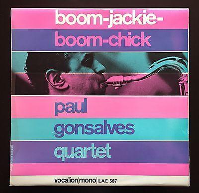 PAUL GONSALVES QUARTET   BOOM JACKIE BOOM CHICK megarare UK 1st press LP NM