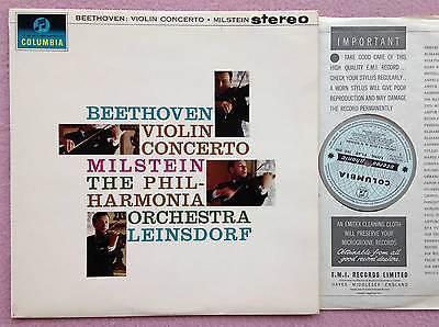 NATHAN MILSTEIN   LEINSDORF  Beethoven Violin  ORIG Columbia SAX 2508 UK 1962 LP