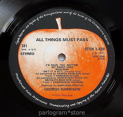 George Harrison   All Things Must Pass    NEAR MINT  UK 1970 3LP Box Set Beatles