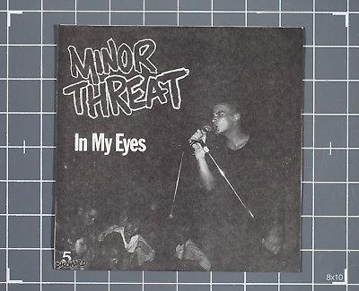 Minor Threat   In My Eyes 7  RED VINYL kbd punk Negative Approach SOA Teen Idles