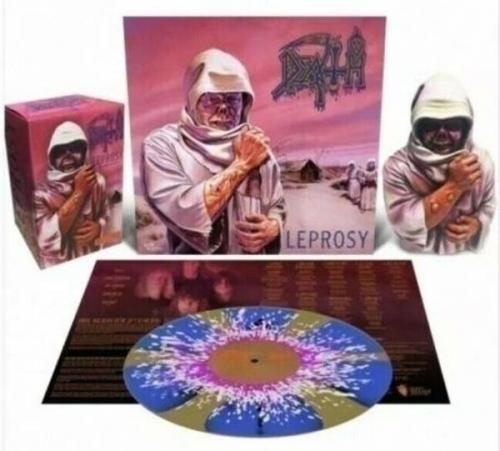 Death   Leprosy   Deluxe Bundle w  bust figure   exclusive Splatter Vinyl
