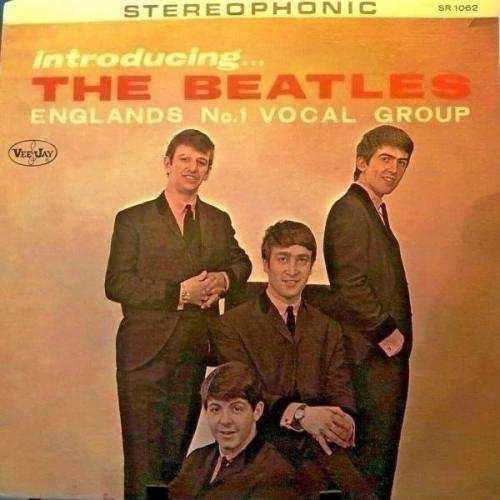 Beatles LP  INTRODUCING THE BEATLES  Stereo VERSION 1 COLUMN Back RAREST  COA
