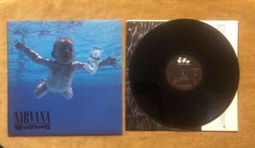Nirvana Nevermind LP Promotional Use Only RARE Original U S  Vinyl Kurt Cobain
