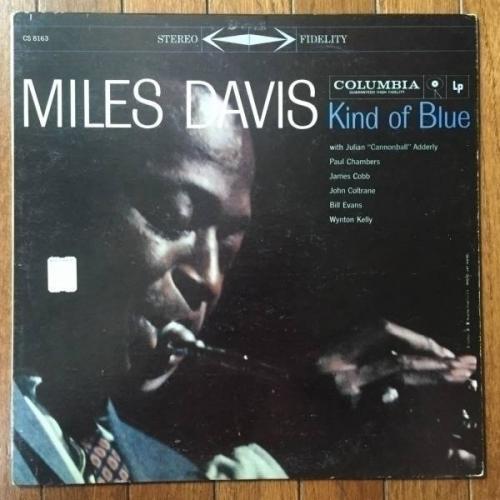 MILES DAVIS jazz LP COLUMBIA        Kind of Blue        6 eye ORIG stereo DG 1AA 1AA   nice