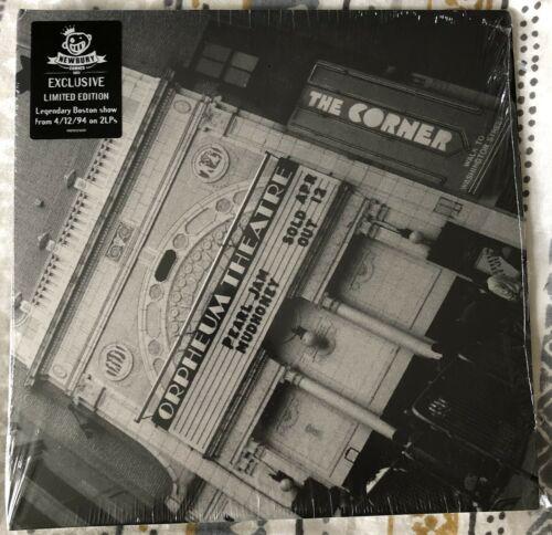 Pearl Jam   Live At The Orpheum Theater 2 LP COLOR Vinyl Newbury Exc  Ltd To 100