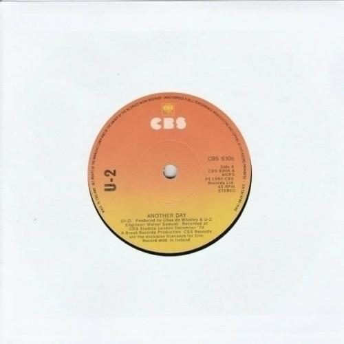 U2   Another Day   Irish 1st Press   CBS 7  Vinyl 1980