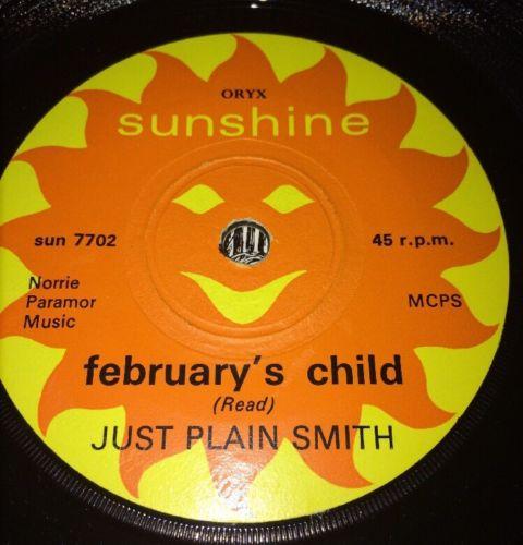 Just Plain Smith February        s Child 45rpm Ex  P S Mega 1967 Rare 7  Mod Psych