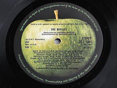 THE BEATLES WHITE ALBUM 1968 UK  Original  STEREO  British Invasion  2  LP Set