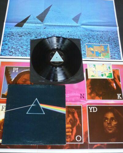 PINK FLOYD The Dark Side  1st UK A2 B2   DARK BLUE COVER   POSTERS STICKERS   vinyl LP