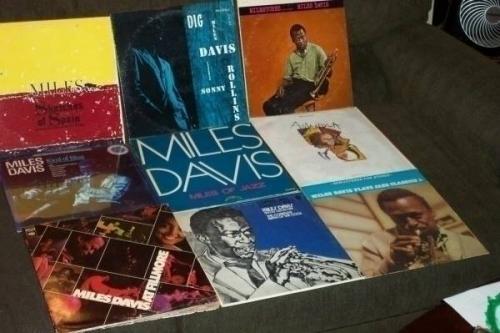 MILES DAVIS 9 LP LOT w  KIND OF BLUE  SKETCHES OF SPAIN  MILESTONES  DIG  COOL