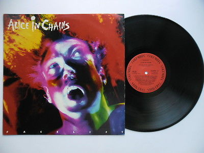 ALICE IN CHAINS FACELIFT LP 1990 1st GRUNGE PEARL JAM NIRVANA