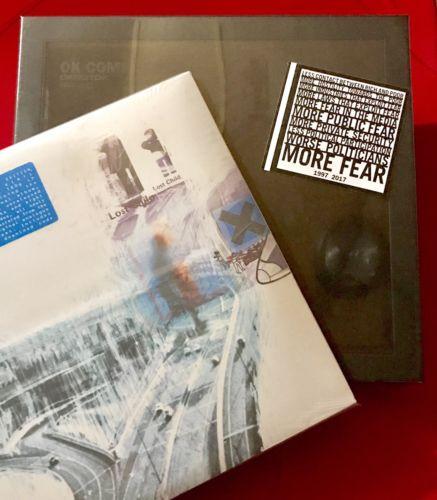 Radiohead Ok Computer OKNOTOK Deluxe Box 3Lp   OKNOTOK BLUE vinyl 3Lp BUNDLE