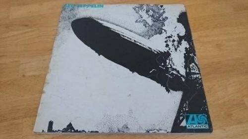 Led Zeppelin   Led Zeppelin I 1969 1st press   1st issue Turquoise lettering LP