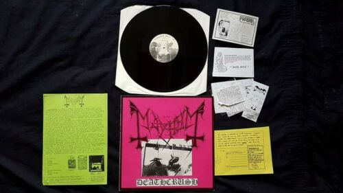 Mayhem Deathcrush Original EP  942 vinyl 1987
