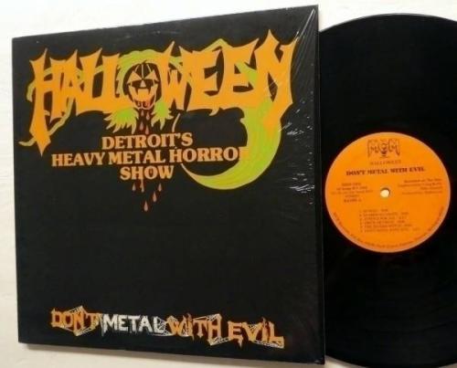 HALLOWEEN Don t Metal With Evil LP MINT  Original press 1984 Heavy Metal  Rp370