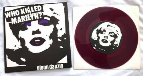 Glenn Danzig Who Killed Marilyn Purple vinyl w  Single Black Swirl Misfits