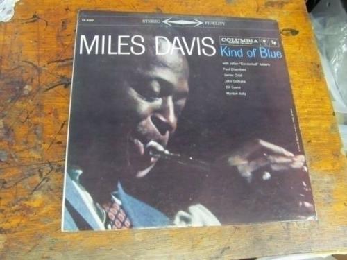 MILES DAVIS Kind Of Blue LP COLUMBIA CS 8163 stereo WLP 6 eye VG   amazing copy