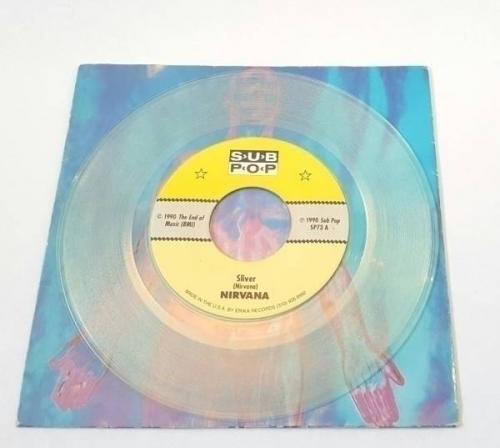 NIRVANA Sliver CLEAR VINYL Sub Pop USA Kurt Cobain Foo Fighters Grunge Seattle