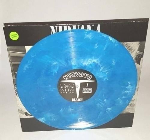 NIRVANA Bleach ERIKA PRESS BLUE VINYL Sub Pop USA Grunge Mudhoney Soundgarden