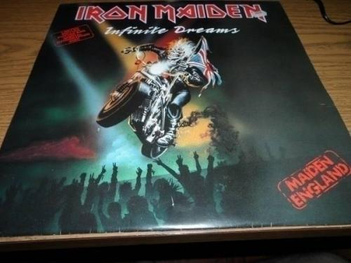 IRON MAIDEN ETCHED AUTOGRAPHED 12  VINYL RECORD LIMITED EDITION INFINITE DREAMS