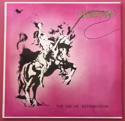 Nemesis   The Day Of Retribution LP Doom Heavy Metal Rare 1984 sweden black NM