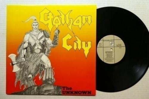 GOTHAM CITY the Unknown LP MINT  Original Sweden press 1984 Heavy Metal   Rp526
