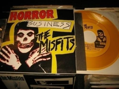 Misfits  Horror Business  Original YELLOW Vinyl  Plan 9 w insert Danzig Samhain