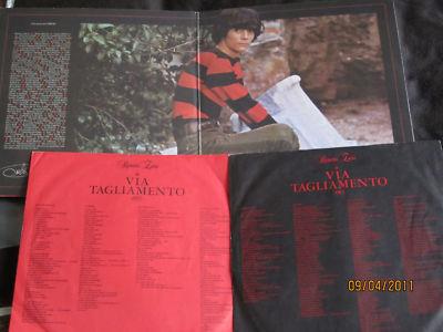 LP Renato Zero Via Tagliamento Promo Foto Piper RARO